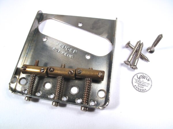 3 brass Saddle Tele Bridge