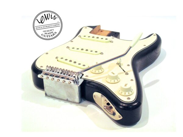 The Mini Strat Black Loaded Body