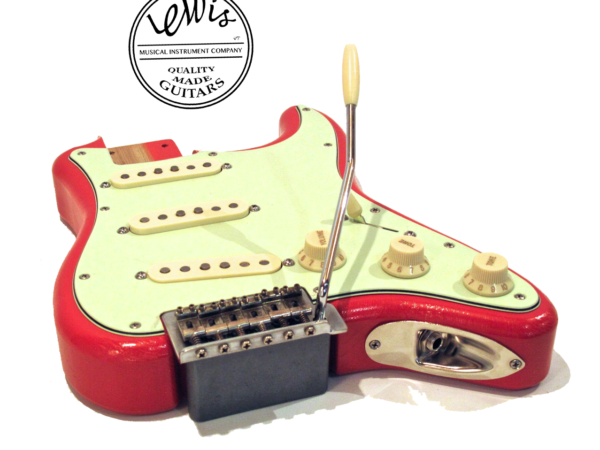 The Mini Strat Fiesta Red Loaded Body
